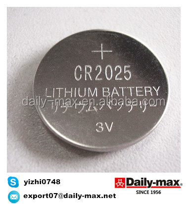 CR2025 Lithium Battery 3V Button cell