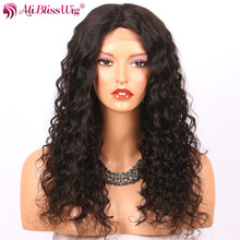 High Quality Invisible Knots 4X4 Inch Silk Base Wig Middle Part Natural Scalp 100% Human Hair loose Curly Lace Front Wig