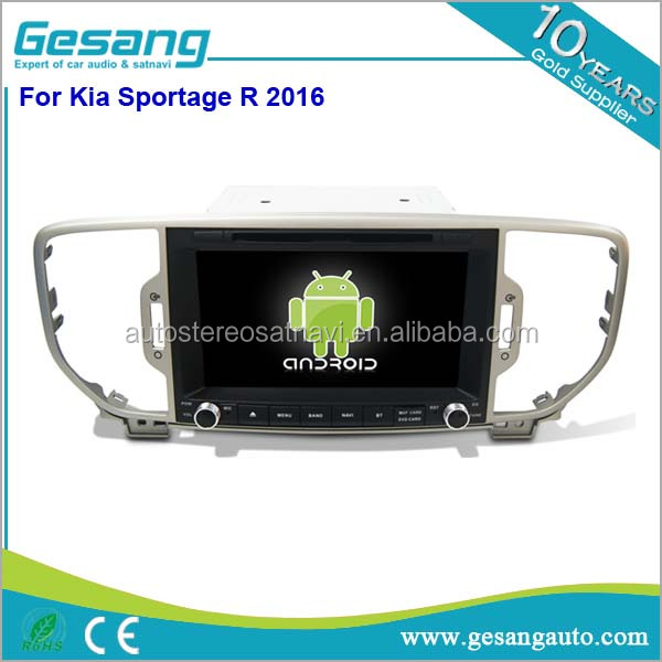 Double din Android 6.0 car radio with gps navigation for KIA SPORTAGE 2016