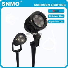 Hot new product IP65 3w 6w 9w 12w RGB integrating led landscape waterproof garden lights