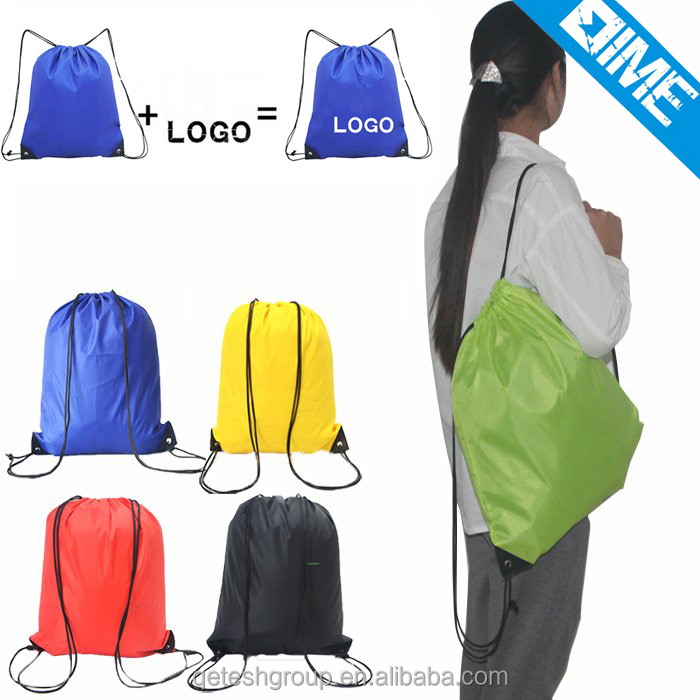 Promotional Polyester Waterproof laptop drawstring backpack