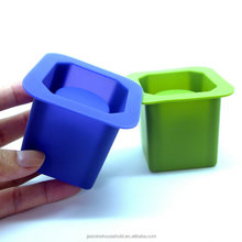 DIY Flexible and Durable BPA free Creative Single Cup Silicone Ice Cube Shot Glass makers
