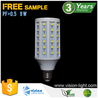 9W 60pcs 5050 SMD 360 degree e27 bulb dimmable led corn light