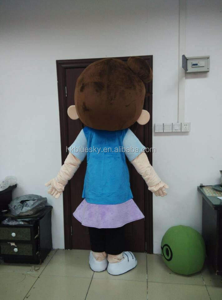 2016 Custom Girl Mascot for kids party use