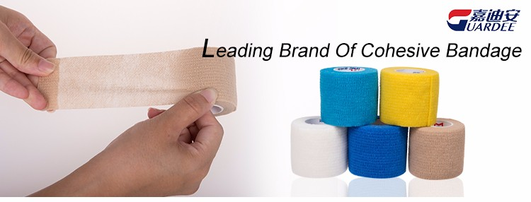 "Disposable non-woven 2""*5 yards cohesive bandage for hospital"