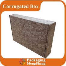 Custom 1Color Direct Print Wood Grain Cardboard Box