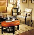 Hotel bedroom sofa/Living room sofa sets/ hotel lobby sofa chair with table CH-XXY-006