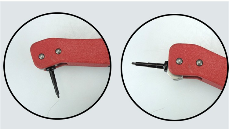 ear tag mounting device flips forward or rotatable ear tag plier for universal tagger