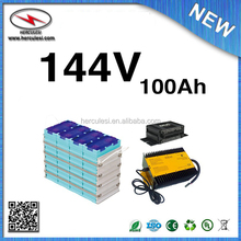 144V 100Ah Lifepo4 Battery Pack with EMUS BMS and Charger