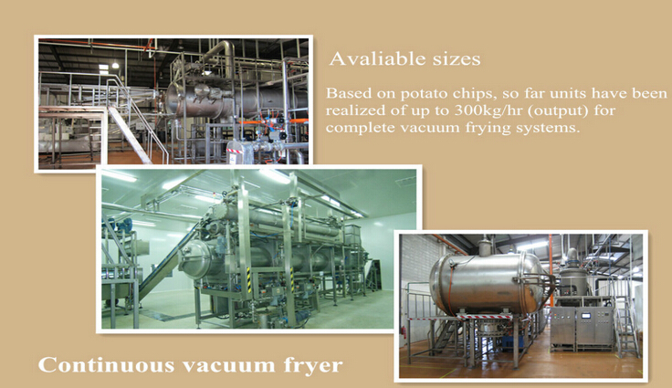 vacuum fryer for potato sticks, potato chips