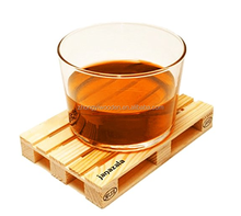 hot selling FSC wooden beer wine glass coaster gift pallets for bar