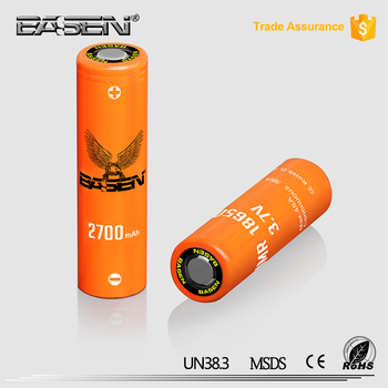 Hot! 2017 Basen 18650 2700mah 45A rechargeable battery for electric power tools