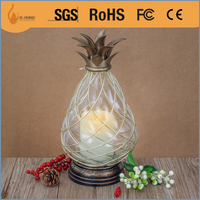 luxurious pineapple shape decorative candle lantern for candle