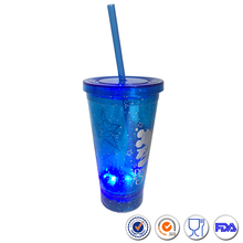 High Quality 12oz Double Wall LED Cup Reusable Plastic Tumbler