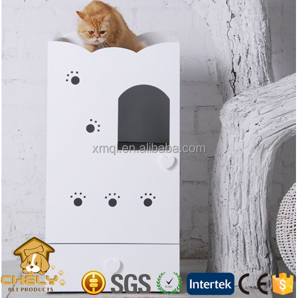billige holz multifunktionalen indoor katze wc mit katzenbett hundebetten zubeh r k fig. Black Bedroom Furniture Sets. Home Design Ideas