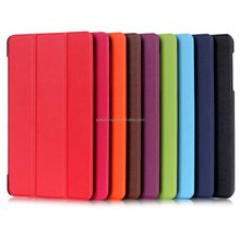Triple folding stand PU leather case for Huawei Media Pad M1