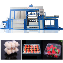 automatic vacuum plastic pvc egg tray package toys box making machine
