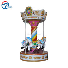 Coin operated kids ride machine/Kids games lovely electric indoor carousel rocking/amusement machine