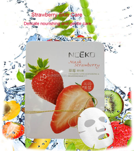 B1020-1NCEKO Strawberry facial mask purifying moisturizing whitening tendering face mask (fruit series)