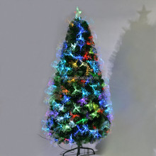 2016 Christmas artificial fiber optic christmas decoration tree for low price