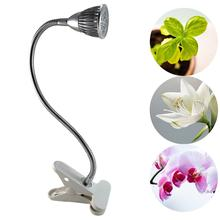 5W One Head LED Grow Light with Clip Flexible Lamp Head Clip LED Plant Growth Light for Indoor or Desktop Plants US Plug
