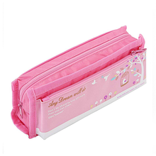 Cheapest alibaba products 2 zipper fancy pencil case eva hard bags