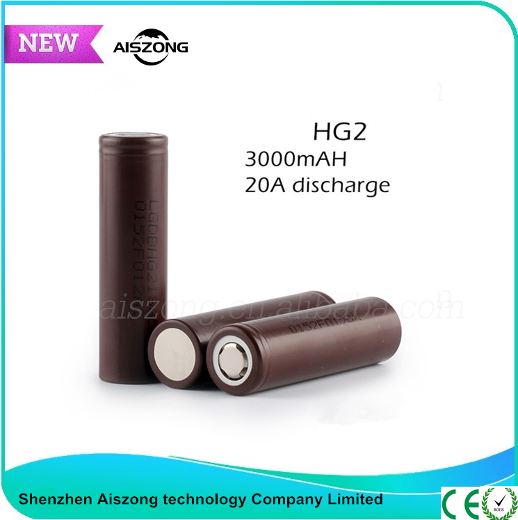 Fast discharge 3000mah Li-ion 18650 Battery 3.7v rechargeable LG cells