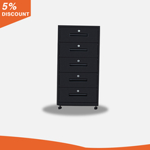 Made in china metal steel black 5 drawer file cabinet