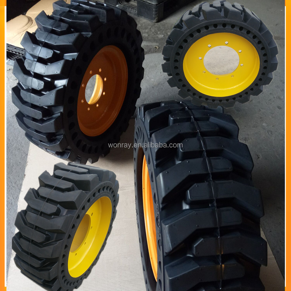 high quality sk1026-5 solid skid steer tires 12-16.5 for korea matsu parts