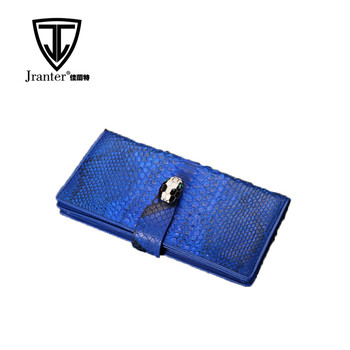 Wallet Manufacturers Genuine Python Snakeskin Leather Ladies Clutch Purses Wholesale Women Wallet