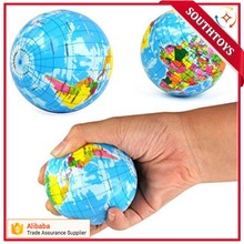 Many Size New World Map Foam Earth Globe Stress Relief Bouncy Ball