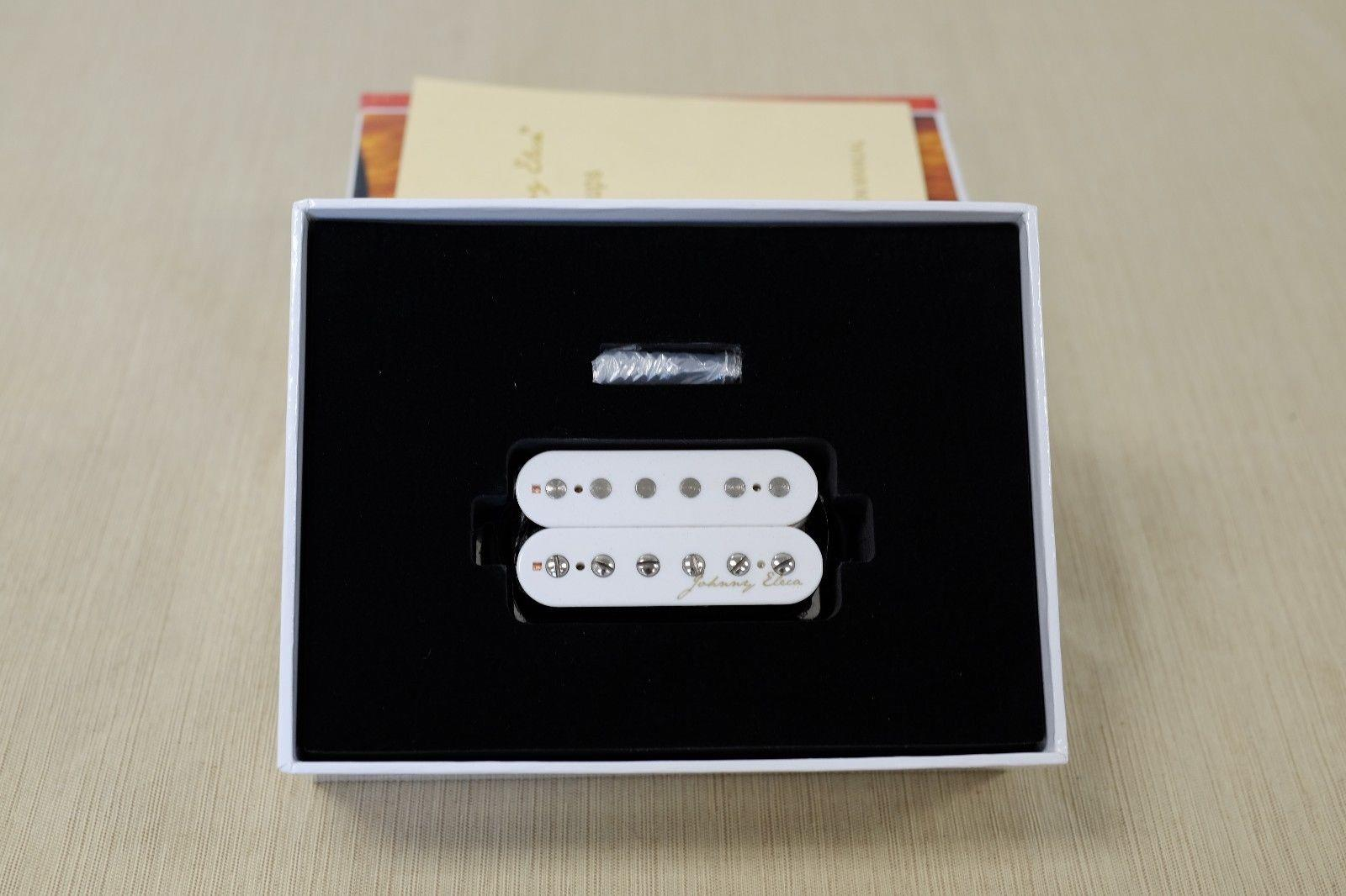 Johnny Eleca White Electric Guitar Pickup Humbucker PGH-2B-W
