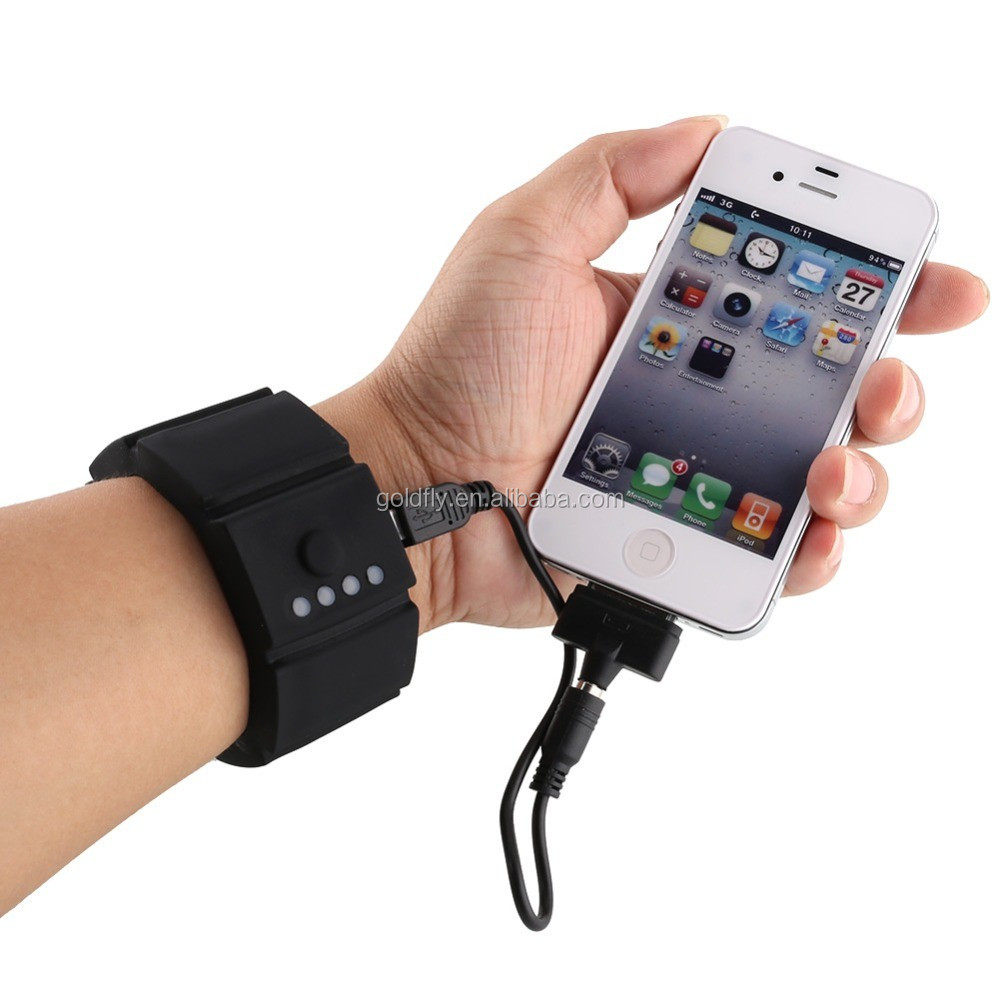 2016 new protable Power bank silicone wrist band power bank 1500mAh promotion power case lithoium battery bank for all phone