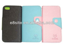 For iPhone 5 Wallet Card Holder TPU Leather Covers Case