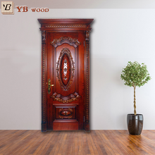 Moisture proof luxury price of wood apartment fire rated door YBVD6040