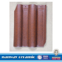 Chinese brown building materials ceramic shingle stone flat roof tile