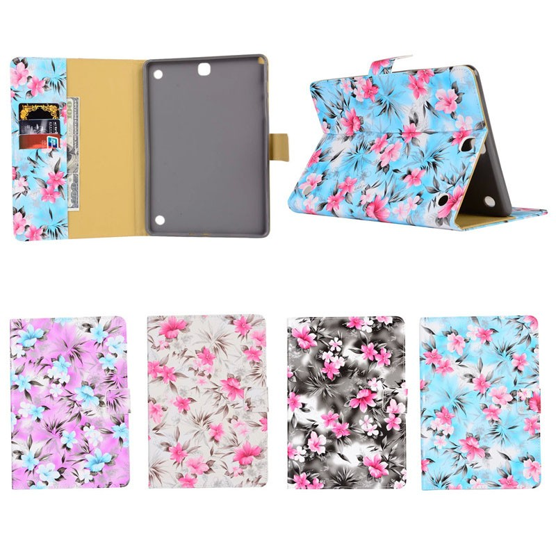 Low Cost most beautiful leather Wallet Case for Samsung Tab A T550 with stand function