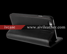 Oem classic leather book mobile cover for iphone 6 wallet case,stand flip magnetic closure case for iphone 6