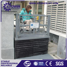 Stair Lift Chair For Disabled People,Hyraulic Handicap Chair Lift,1.5m Wheelchair Lift Platform