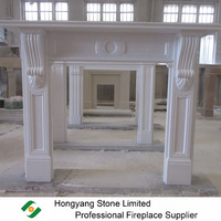 Victorian corbel pure white marble fireplace