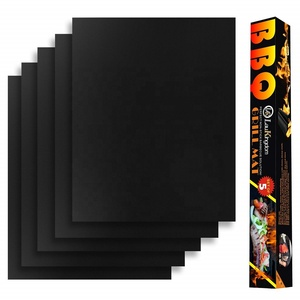 DJ Best Recyclable Heavy Duty 600 Degree Barbecue Mat 33*40 cm PTFE coated bbq grill mat non-stick