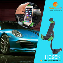 China warehouse sell car charger holder with three USB fast charging