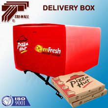 corrugated Plastic box scooter motorcycle food delivery box for Pizza