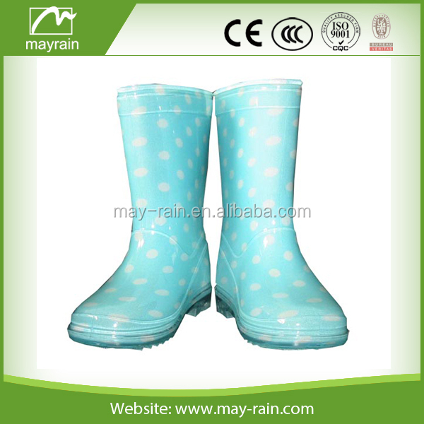 blue clear waterproof rainboot