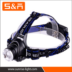 Most Popular 5W Outdoor AAA Battery Adjustable ABS Headlamp With Red LED