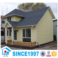 Cheap Price Oblique Roof Small Villa Prefabricated Light Steel Frame House