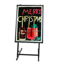 Top selling New writable led advertising sign board with lithium battery