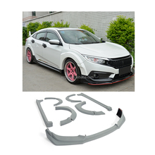 PU Type-R Style Car Body Kits for Honda Civic 10th Generation Sedan 4-Door 2016 2017