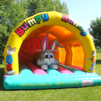 Hola cartoon inflatable bouncer/used bouncy castle for sale