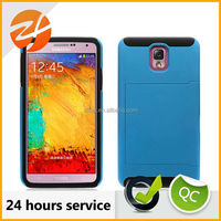 Sublimation Hard PC Case for Samsung Galaxy Note 3, Card Holder Case With Kickstand For Samusng Note 3